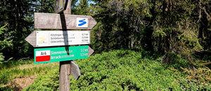 Schilder für Wanderwege